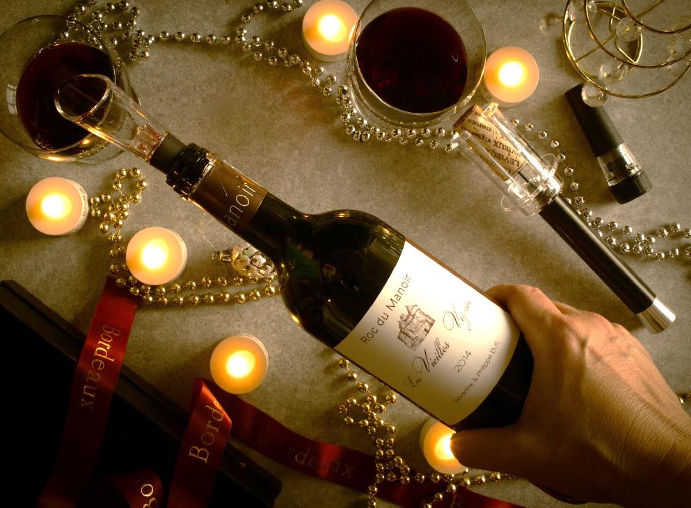 パートナーとの夜はボルドーの赤ワインとともに